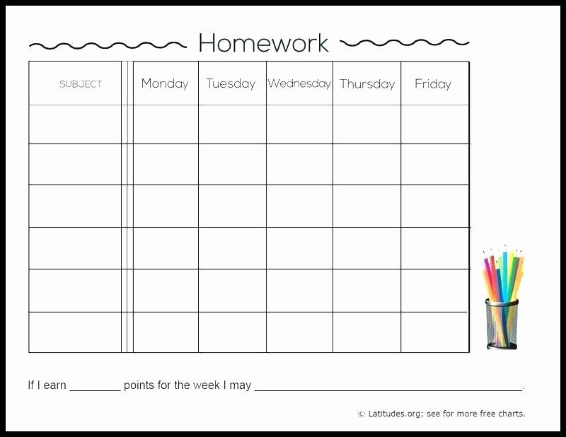 Assignment Sheet Template Unique 13 Free Homework assignment Sheet Template