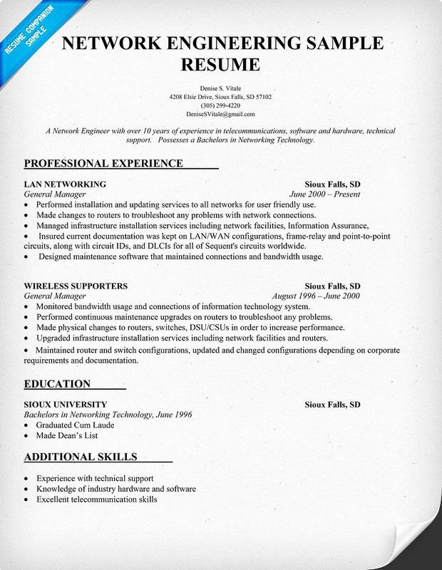 Audio Engineer Resume Sample Awesome Network Engineering Resume Sample Resume Panion