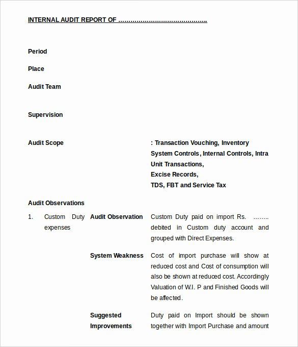 Audit Documentation Example Lovely 21 Internal Audit Report Templates Word Pdf Apple