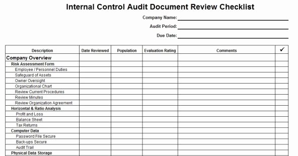 Audit Documentation Example Luxury 27 Of Internal Audit Template Documentation In