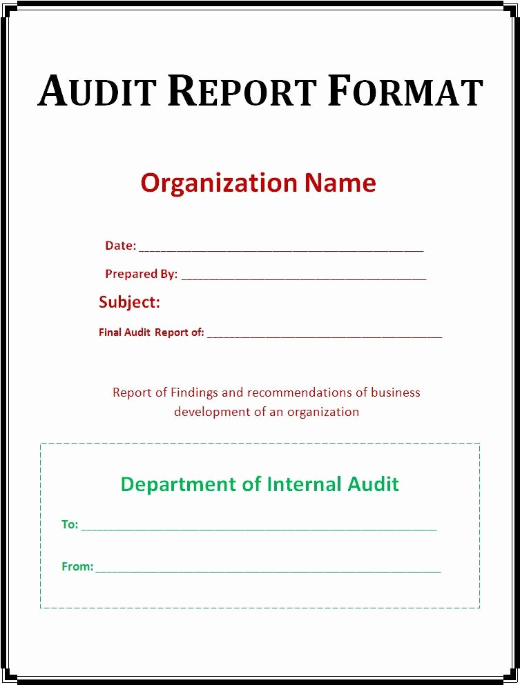 Audit Summary Template Inspirational 10 Audit Report Templates