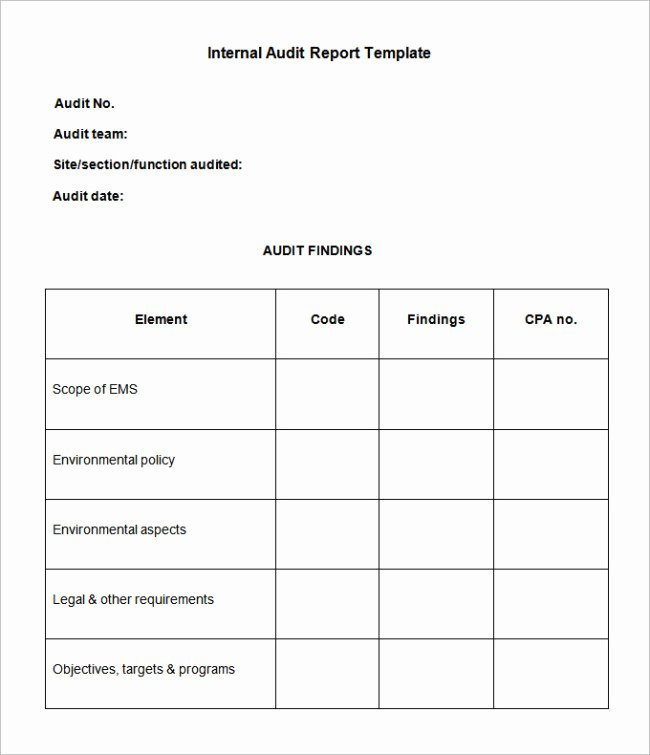 Audit Summary Template Unique 38 Brilliant Template Samples for Audits Thogati