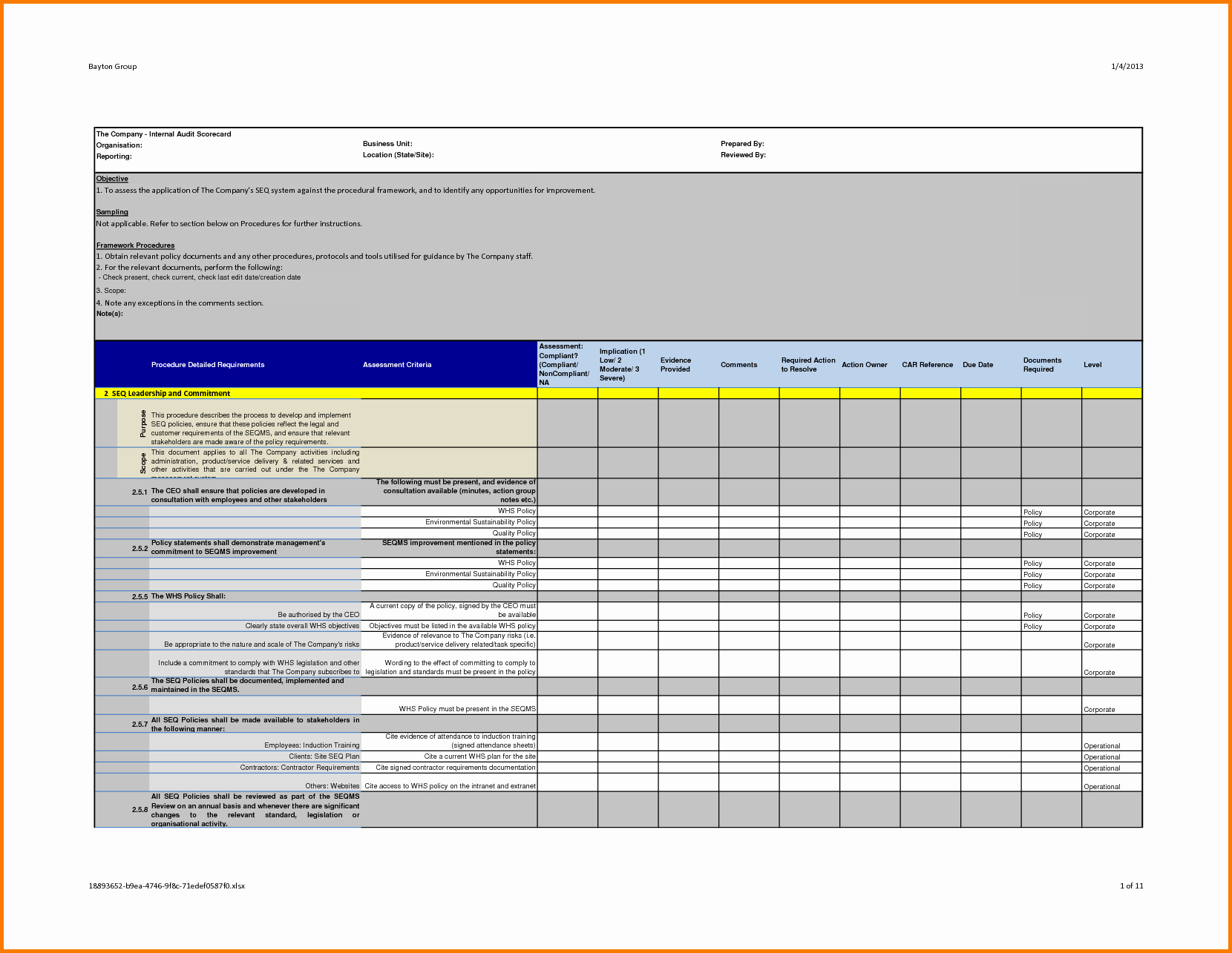 Audit Summary Template Unique Professional Internal Audit Report Template Example with