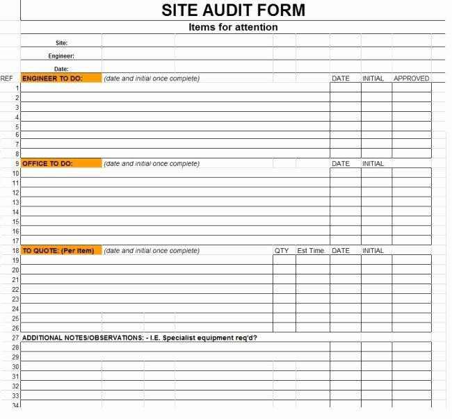 Audit Template Excel Beautiful 38 Brilliant Template Samples for Audits Thogati