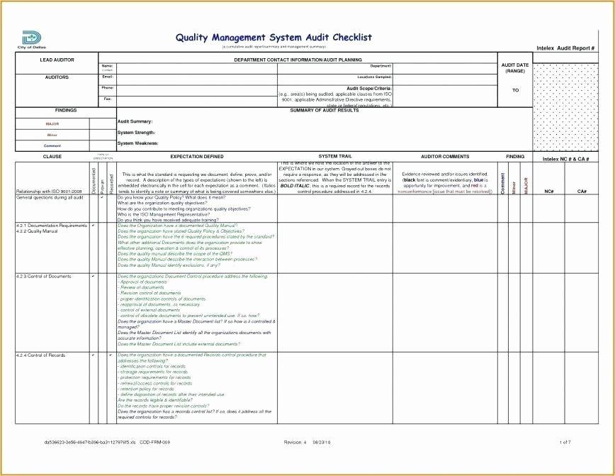 Audit Template Excel Luxury Audit Templates