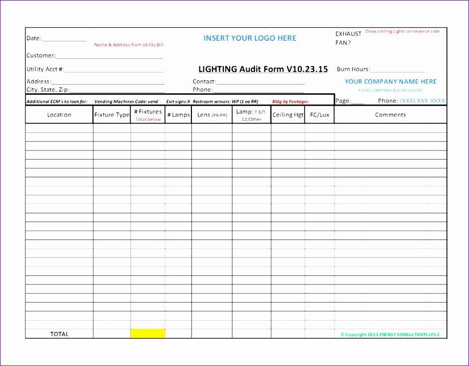 Audit Template Excel Unique 6 Audit Checklist Template Excel Exceltemplates