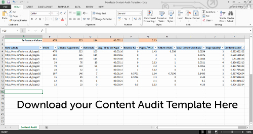 Audit Template Excel Unique How to Perform A Content Audit with Free Template