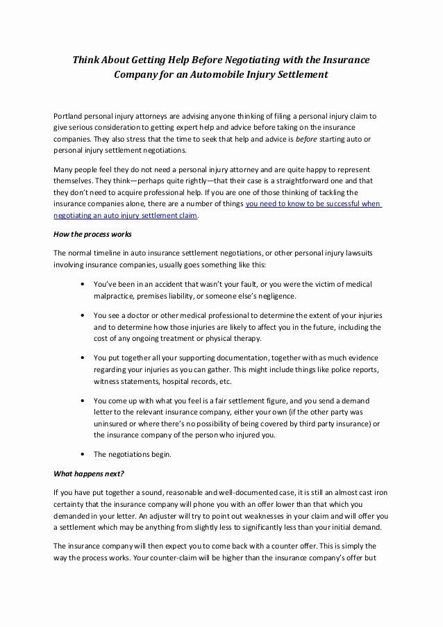 Auto Accident Settlement Agreement Sample Unique Third Party Car Insurance Third Party Insurance Lawsuit