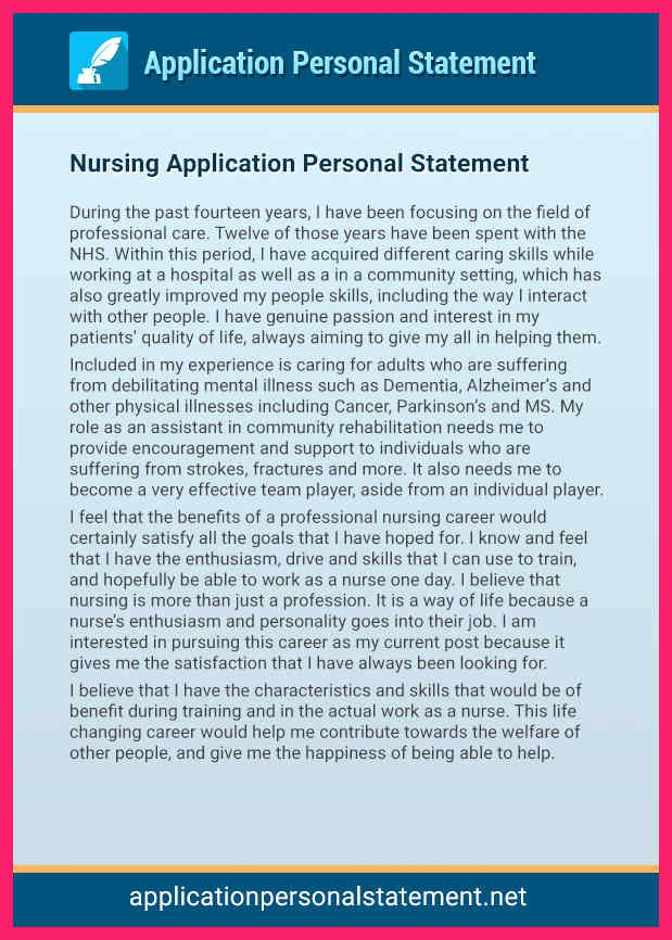 Autobiography for Grad School New Nursing Personal Statement