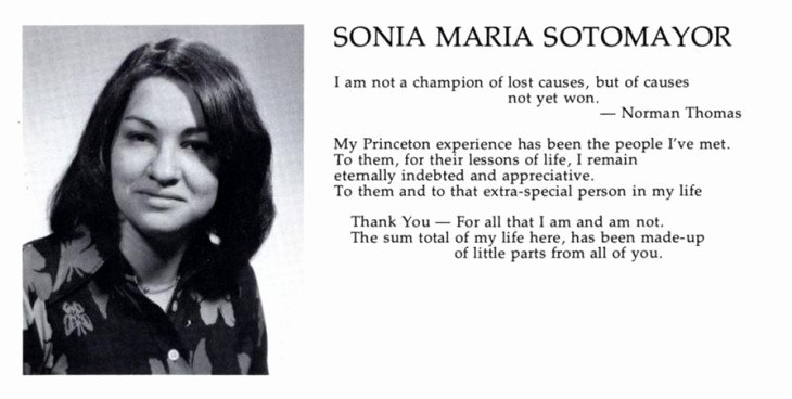 Autobiography for Graduate School Awesome sonia sotomayor