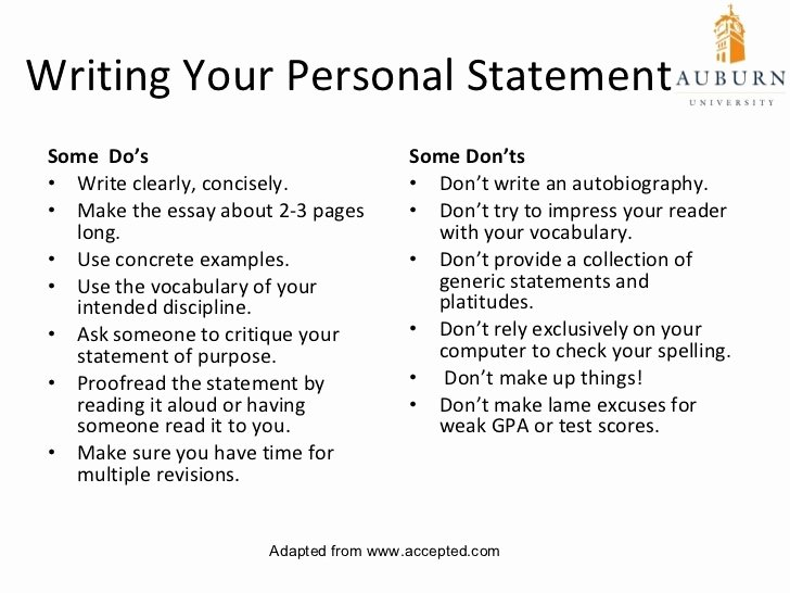 Autobiography for Graduate School Beautiful Short Personal Statement Examples 10