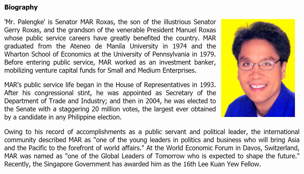 Autobiography for Graduate School Fresh Thinking Pinoy Wharton Graduate Mar Roxas that is Not A