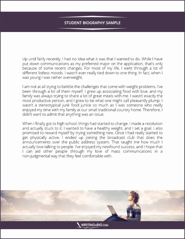 Autobiography for Scholarship Examples Lovely Student Biography Example Bio Examples