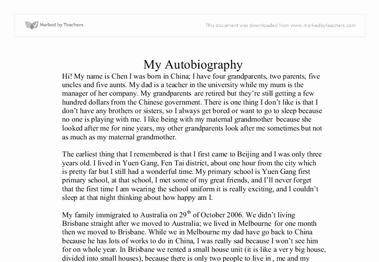 Autobiography for Scholarship Examples Unique Best S Of Sample Biography About Myself Sample