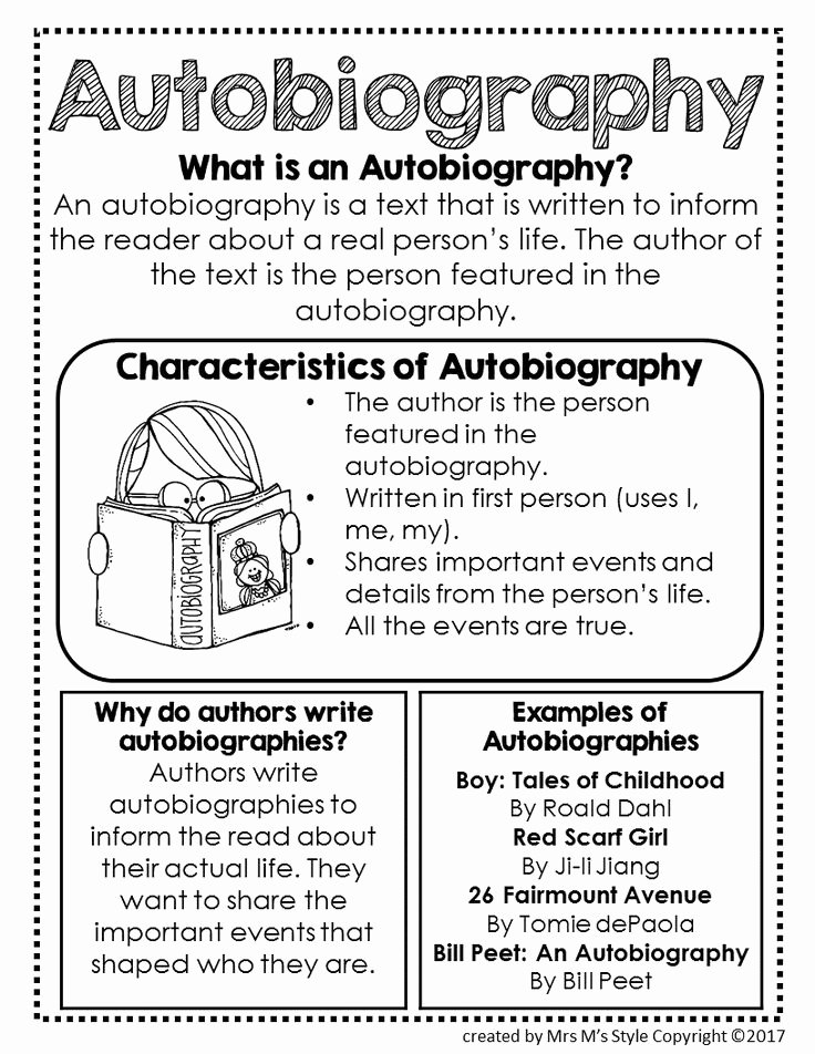 Autobiography Template for Elementary Students Best Of the 25 Best Autobiography Writing Ideas On Pinterest