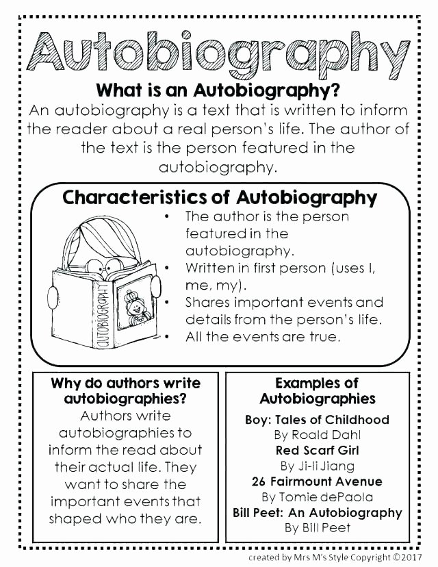 Autobiography Template for Elementary Students Inspirational Biography Template for Elementary Students