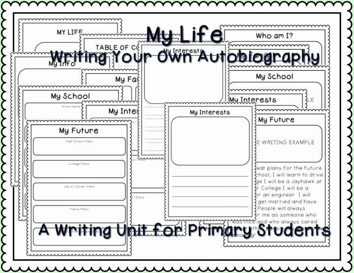Autobiography Template for Elementary Students Lovely Writing Your Own Autobiography