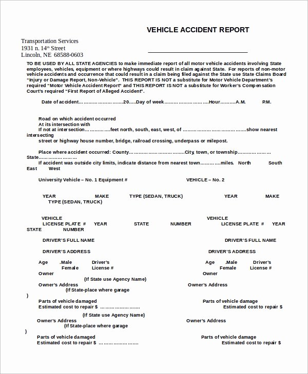 Automobile Accident form Best Of 45 Sample Reports
