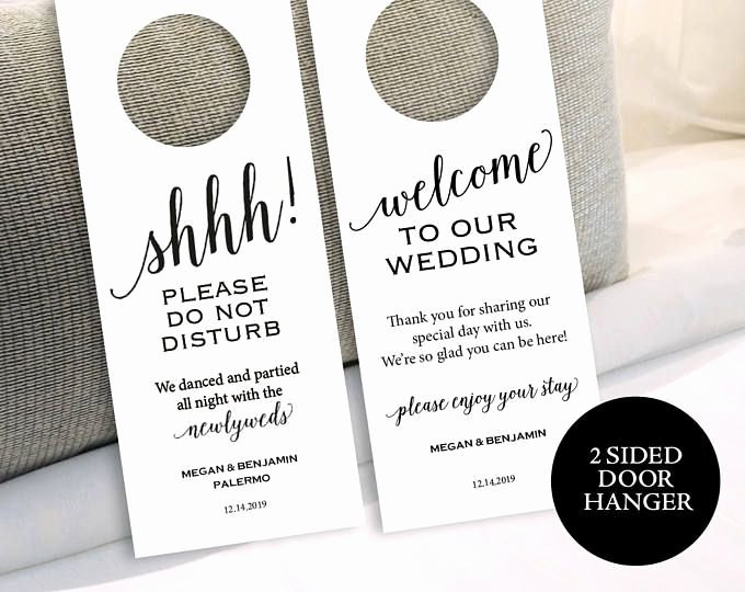 Avery Door Hanger Template Inspirational 25 Best Ideas About Wedding Door Hangers On Pinterest