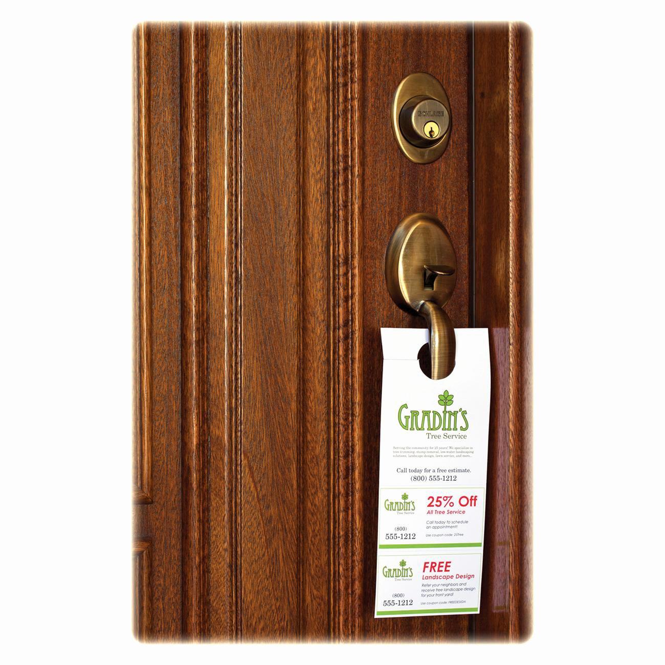 Avery Door Hanger Template Inspirational Door Hanger with Tear Away Cards Ld Products