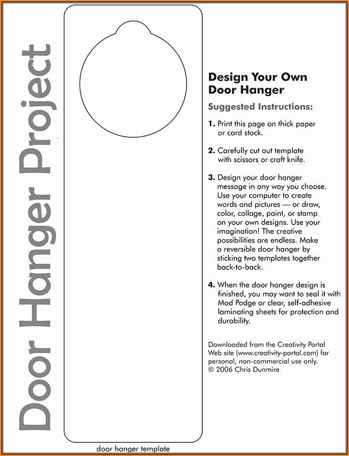 Avery Door Hanger Template Lovely Free Door Hanger Template for Word Template 1 Resume