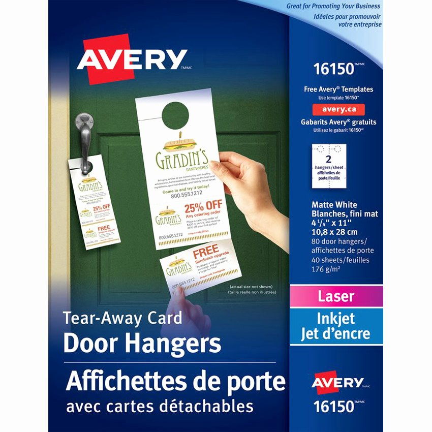 Avery Door Hangers Template Awesome Avery Door Hanger Tick Avery Pk 80 00