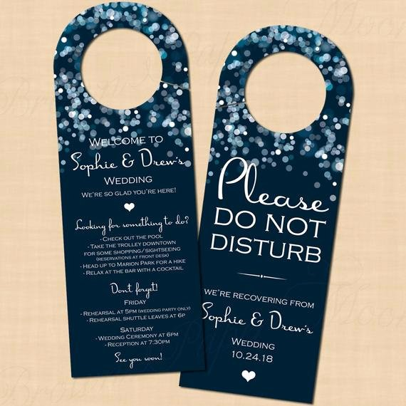 Avery Door Hangers Template Inspirational Sparkly Stars Water Blue Do Not Disturb Door Hangers