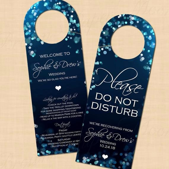 Avery Door Hangers Template Unique Midnight Blue Night Sky Door Hangers Text Editable Printable