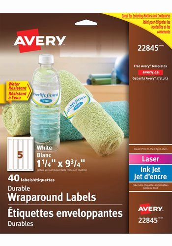 Avery Labels for Water Bottles Awesome Avery Durable Wraparound Water Bottle Labels 9 3 4