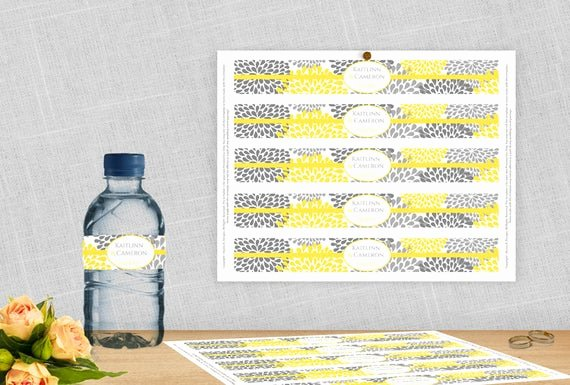Avery Labels for Water Bottles Lovely Diy Water Bottle Label Template for Avery by