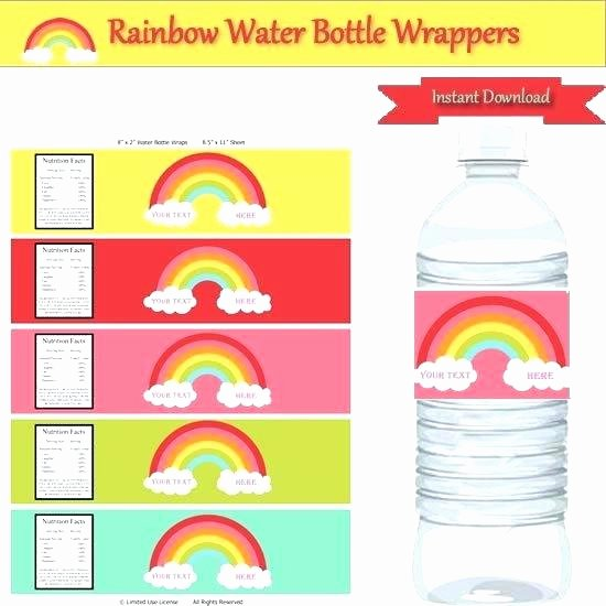 Avery Labels for Water Bottles New Editable Water Bottle Labels Cheat Best and