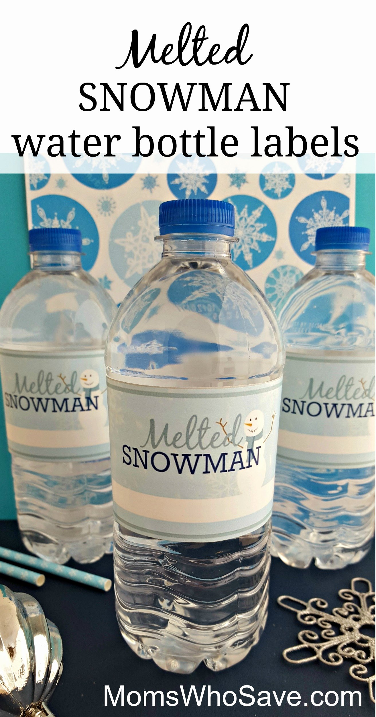 Avery Labels for Water Bottles Unique Easy Diy Free Printable Melted Snowman Water Bottle