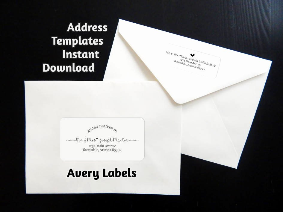 Avery Labels Template 18163 Lovely Printable Address Template for Envelope Labels Avery 2 X