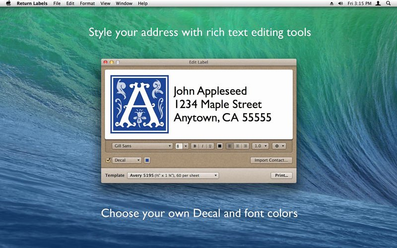 Avery Labels Template 18163 Luxury Return Labels On the Mac App Store