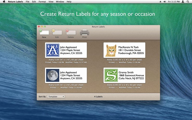 Avery Labels Template 18163 Unique Return Labels On the Mac App Store