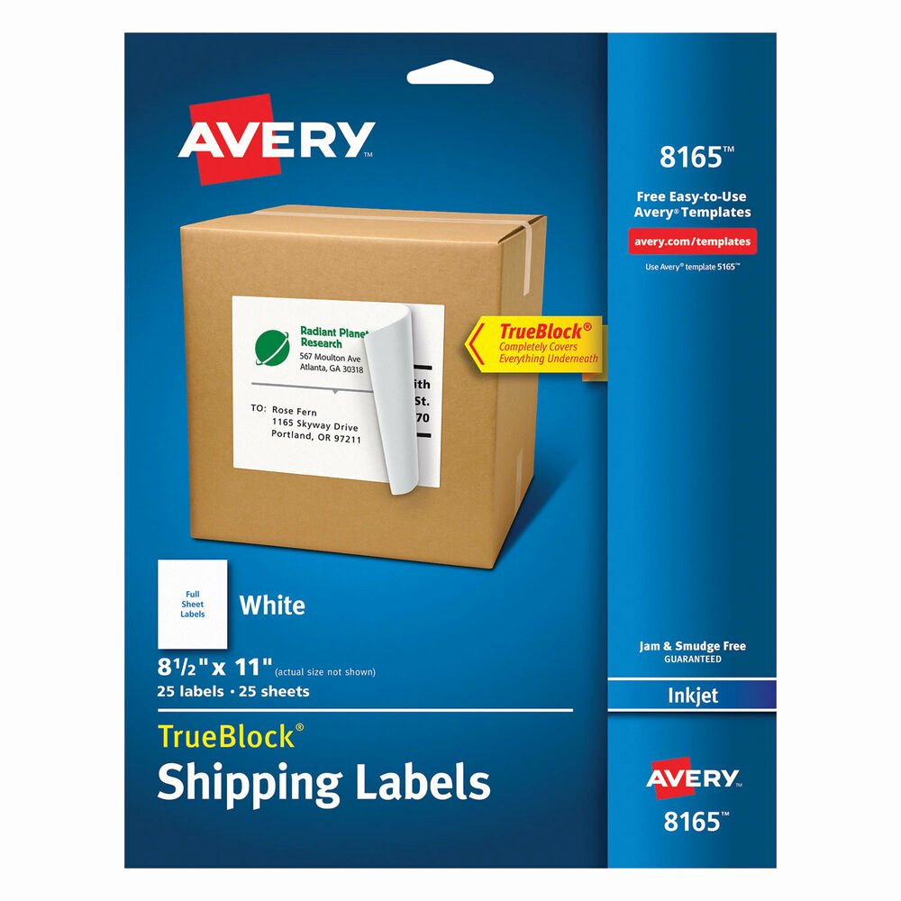 Avery Luggage Tag Template Elegant Avery Full Sheet Labels with Trueblock Technology Inkjet 8