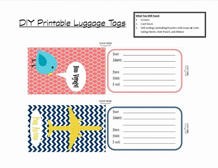 Avery Luggage Tag Template Fresh 53 Avery Luggage Tags Fish Extender Cabin Gift Light