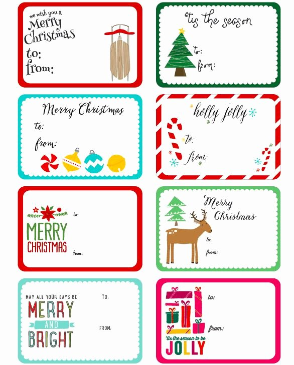 Avery Luggage Tag Template Unique Free Printable Christmas Label Templates by Angie Sandy
