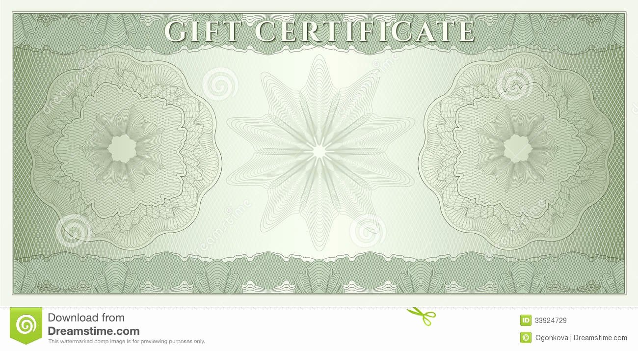 Award Check Template Awesome Voucher Gift Certificate Coupon Money Stock Vector