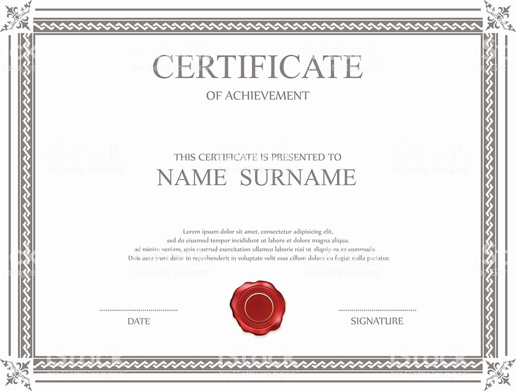 Award Check Template Elegant Certificate Templates