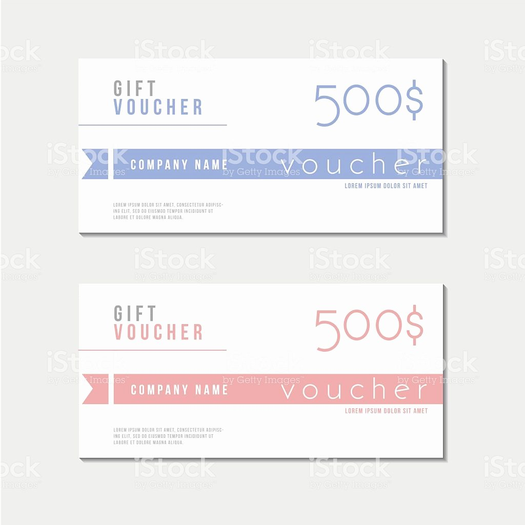 Award Check Template Fresh Voucher Template with Premium Minimal Style Pattern Stock