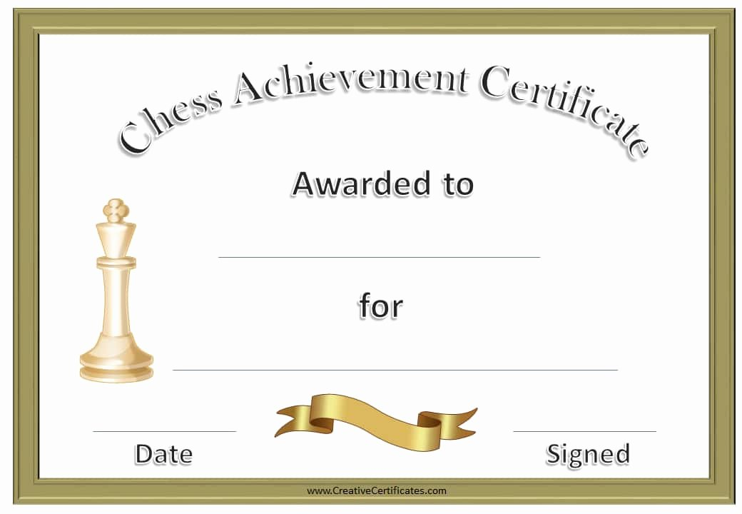 Award Check Template Lovely Free Chess Awards and Certificates