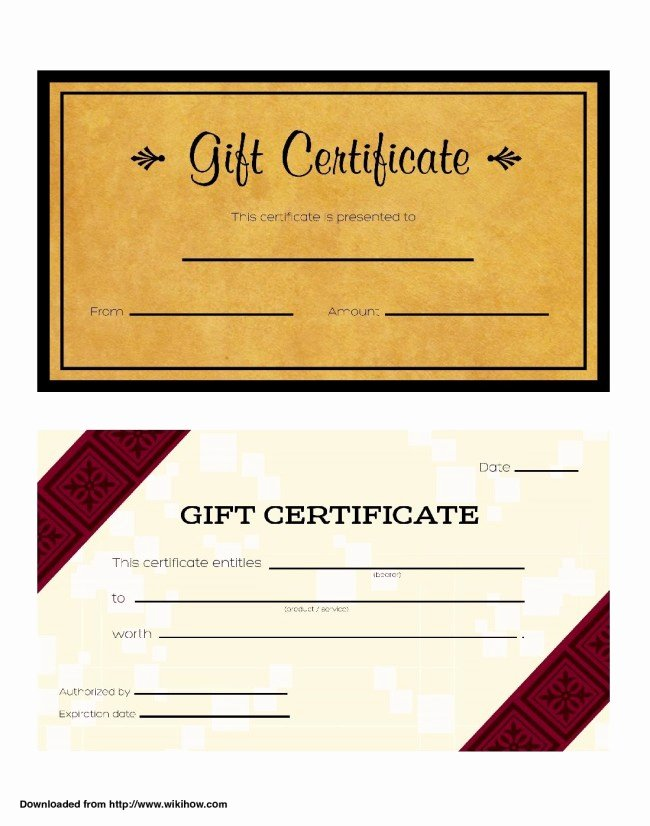 Award Check Template New Cool Design Of Business Gift Certificate Template Brown