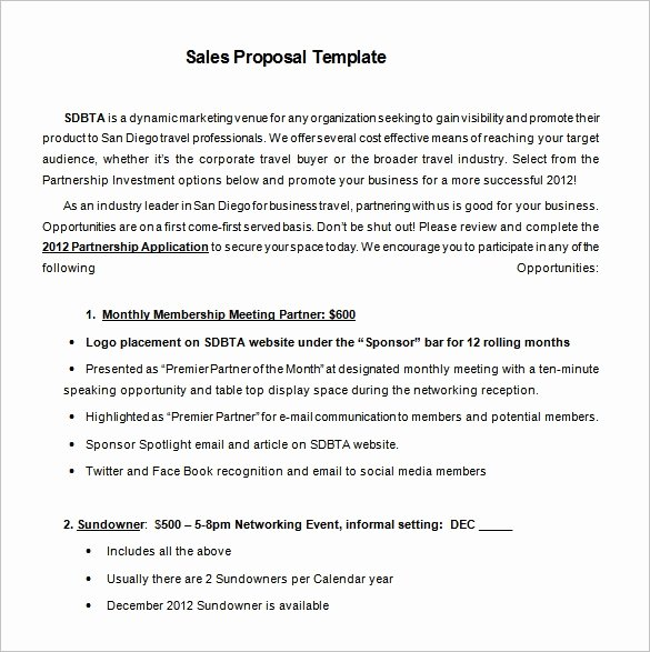 B2b Proposal Template Elegant Sales Proposal Template 19 Free Sample Example format