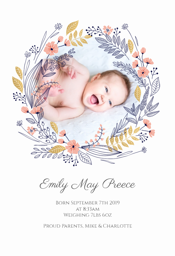 Baby Announcement Email Awesome Birth Wreath Anuncio De Nacimiento Gratis