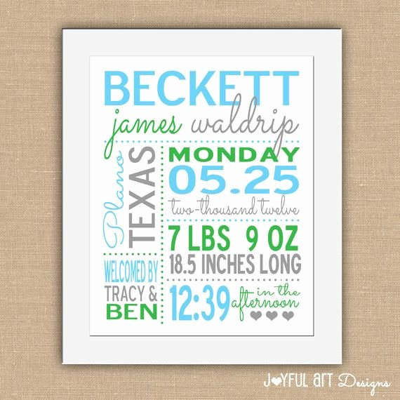 Baby Birth Stats Template Free Awesome Birth Statistic Printable Wall Art Personalized Baby