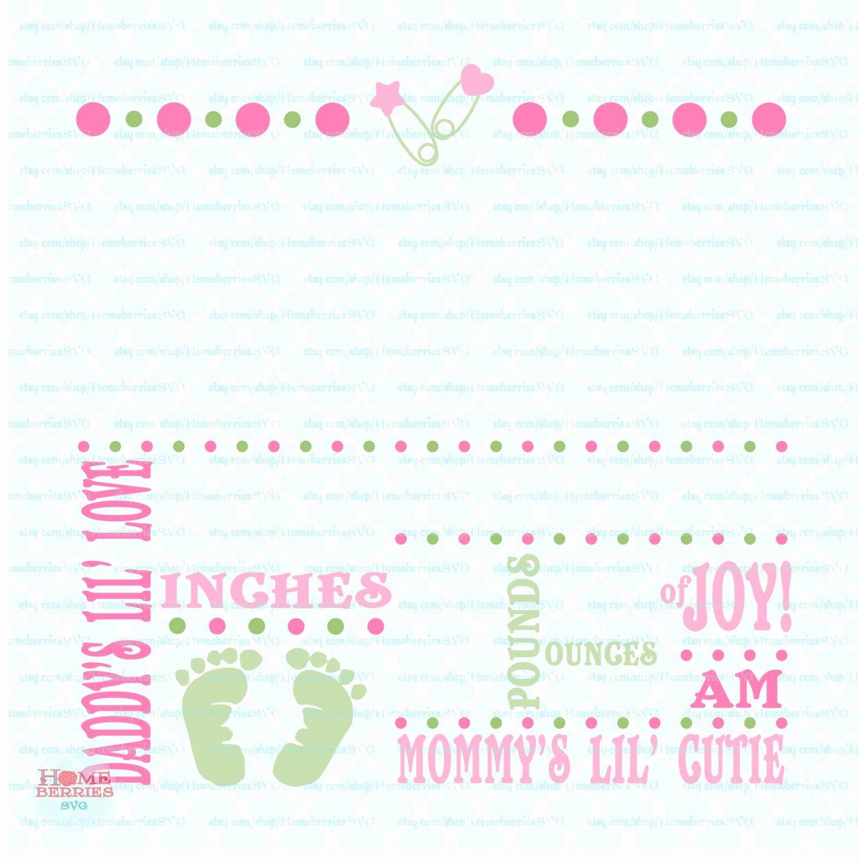 Baby Birth Stats Template Free New Birth Announcement Template Svg Birth Svg Baby Svg