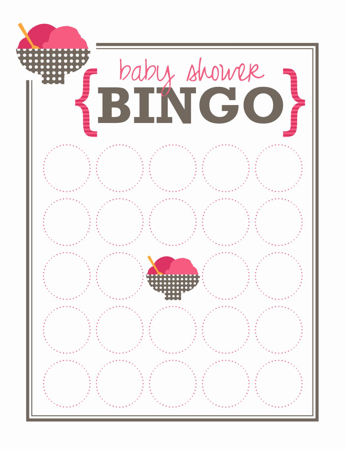 Baby Shower Bingo Generator Awesome Lanolindaof Bridal Shower Bingo Template Blank