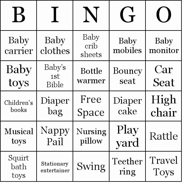 Baby Shower Bingo Generator New Baby Shower Gifts Bingo Cards