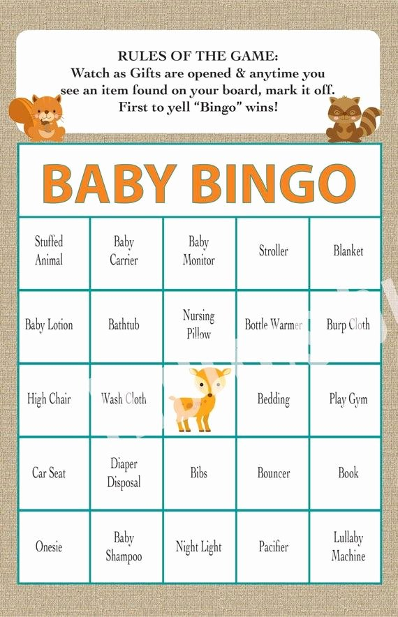 Baby Shower Bingo Generator Unique Create Your Own Baby Bingo